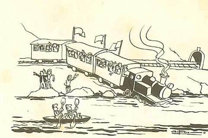 Piragüistas del dibujante Alfonso Iglesias