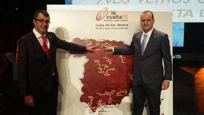 Carlos Puente (d.) con Javier Guillén, director general de Unipublic.
