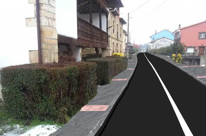 El Partido Popular consensuará con los vecinos de Corao la urbanizaciónde la travesía donde prevé la construcción de aceras