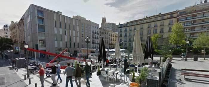 Plaza Vázquez de Mella. Foto de Google maps.