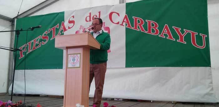 Cima fue el pregonero e las fiestas de El Carbayu
