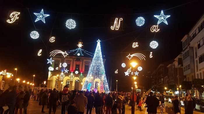 luces de navidad en villaviciosa de asturias
