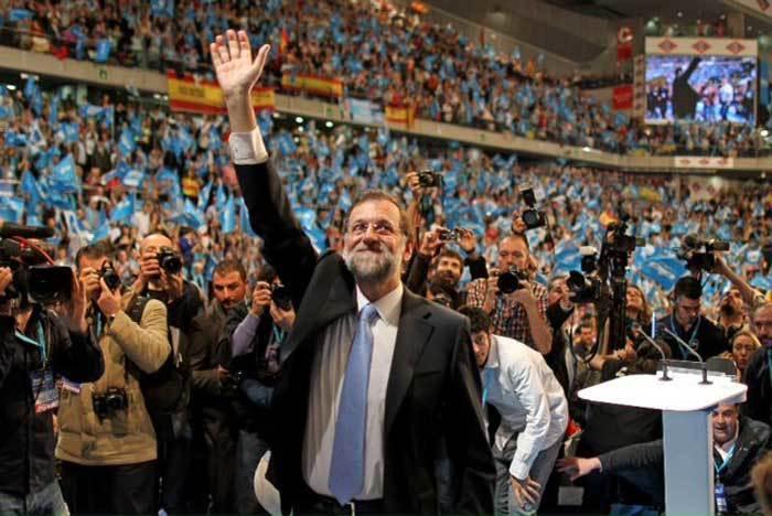 Mariano Rajoy en un mitin.