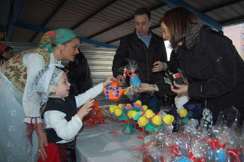 Los niños del Peña Careses adelantan la celebración de Güevos Pintos