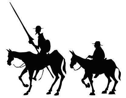 """Don Quijote en el """"puente romano"""""""