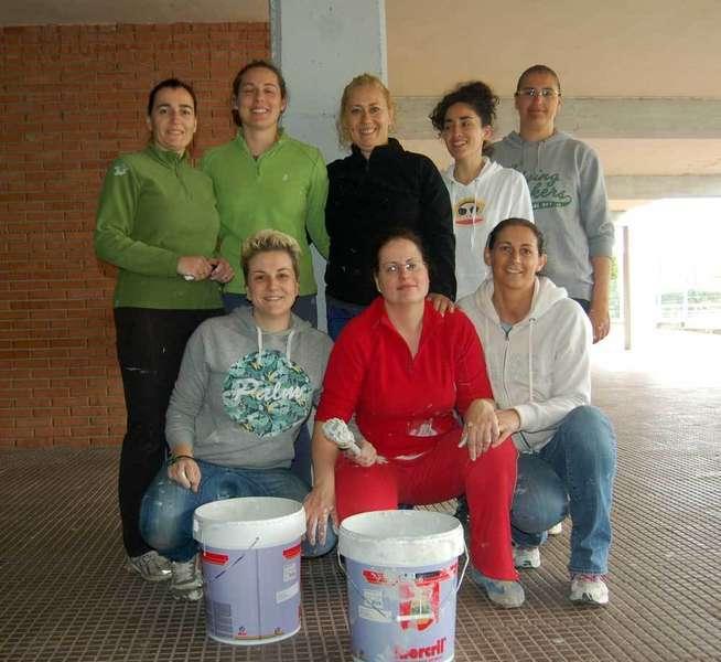 Las madres del AMPA del colegio de Lieres.