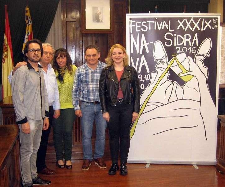 Presentación del cartel ganador en Nava.