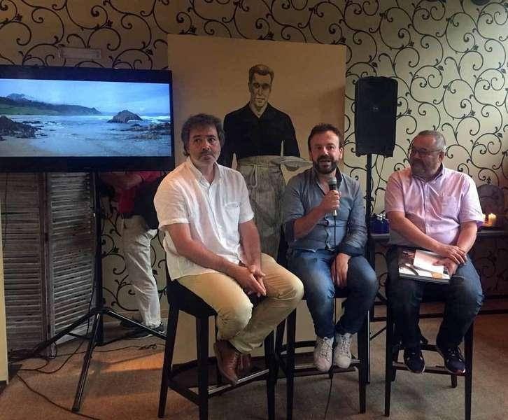 Nacho Manzano, en la presentación del libro en La Salgar.