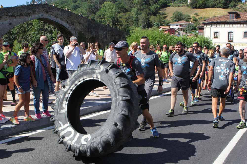 La solidaridad rodó hasta Covadonga
