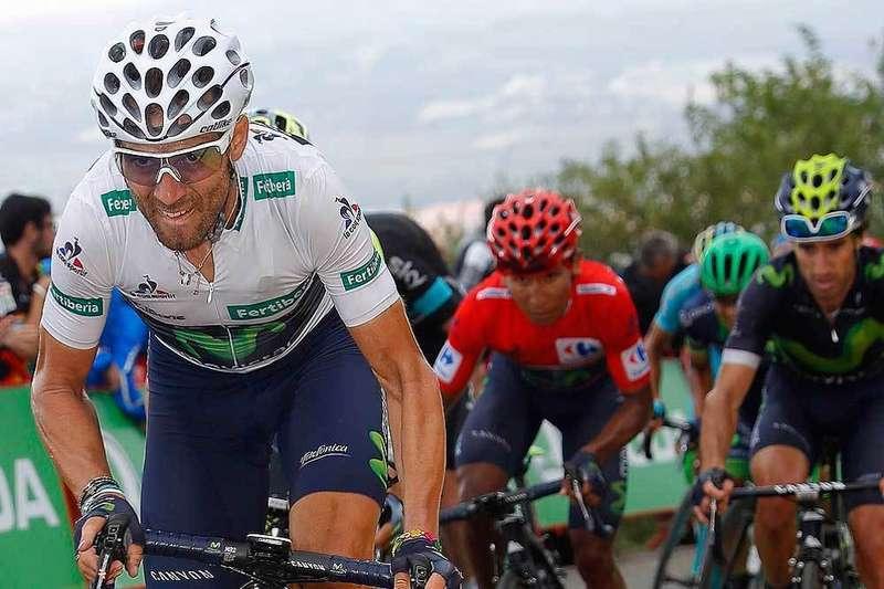Valverde en la etapa del Naranco. PhotoGomezSport