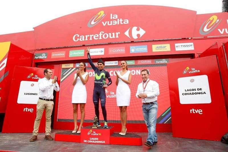 Quintana en el pódium de Los Lagos. FOTO Javier Belver.