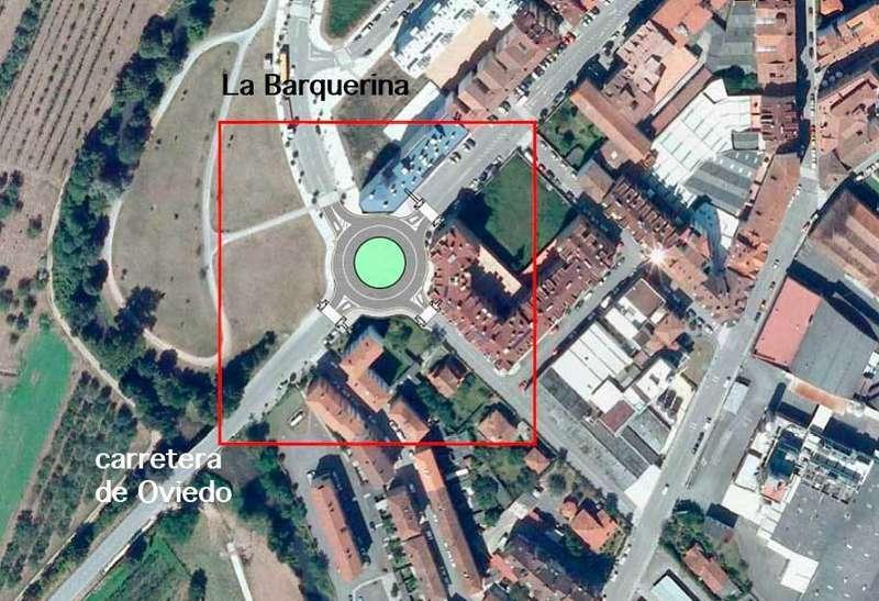 Plano donde se ve la ubicación de la glorieta