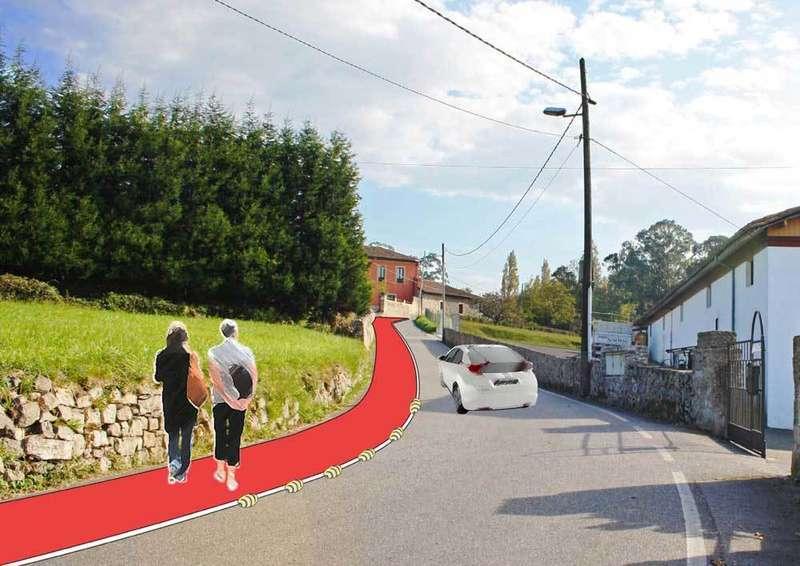 Recreación de la senda peatonal que llevará hasta el tanatorio.