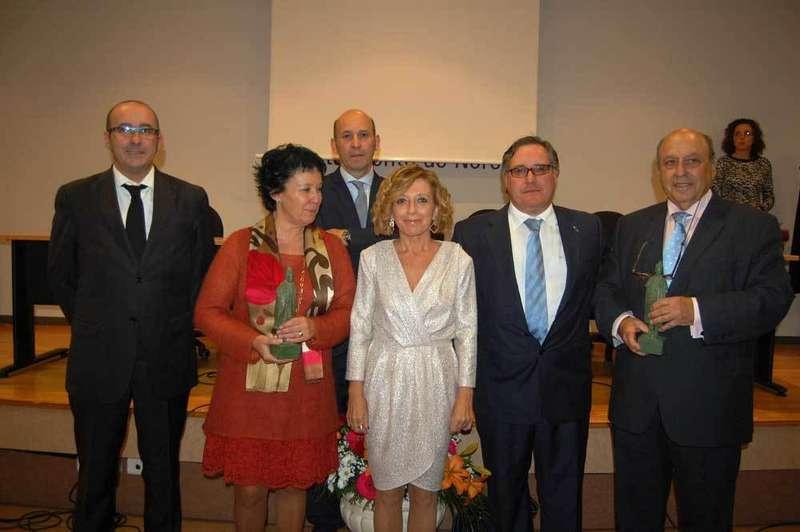 Premiados y autoridades en la gala celebrada en Noreña.