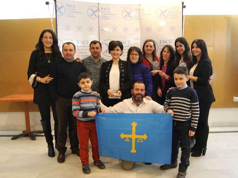 Los asturianos galardonados con los premios FACE.