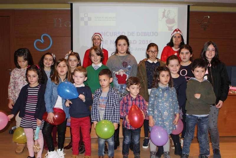 Premiados del Concurso de Dibujo de Hospital del Oriente de Asturias.