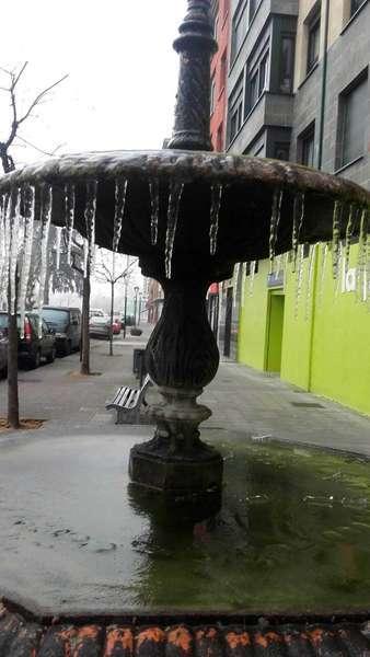 La Fuentina de Arriondas, congelada.