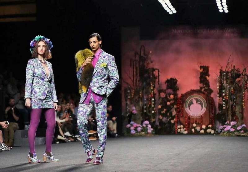 Sidra dop en la mercedes ben fashion week
