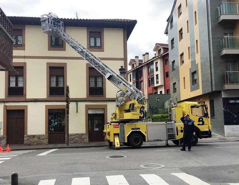 bomberos-retirando-abejas-avenida-convadonga-cangas-onis