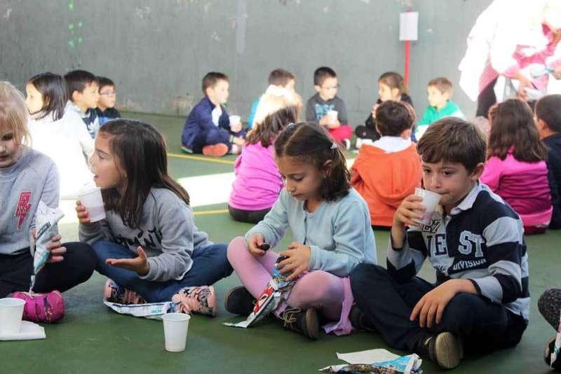 Amagüestu en el Colegio Público La Ería de Lugones