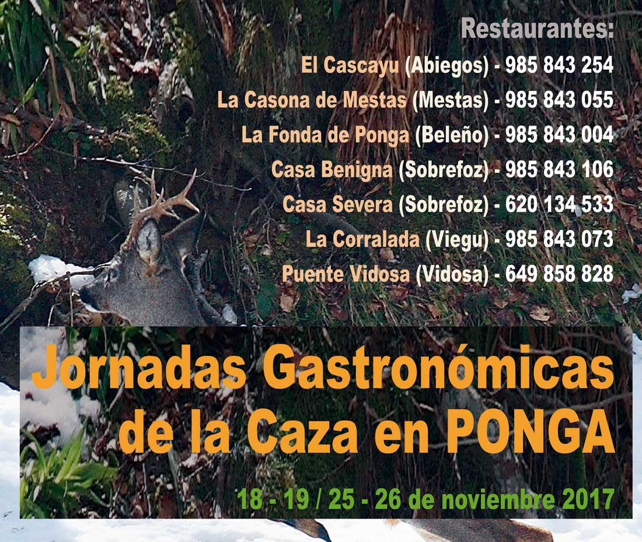 Dos fines de semana para disfrutar de la mejor cocina de caza en Ponga