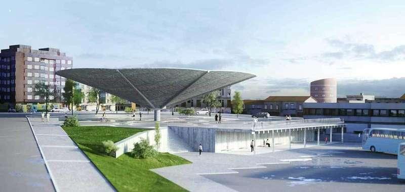 Así será la nueva plaza del Paraguas de Pola de Siero