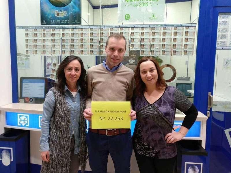 Quintos premios de la Lotería en Villaviciosa, Siero, Infiesto y Ribadesella de los números 00580 y 22.253