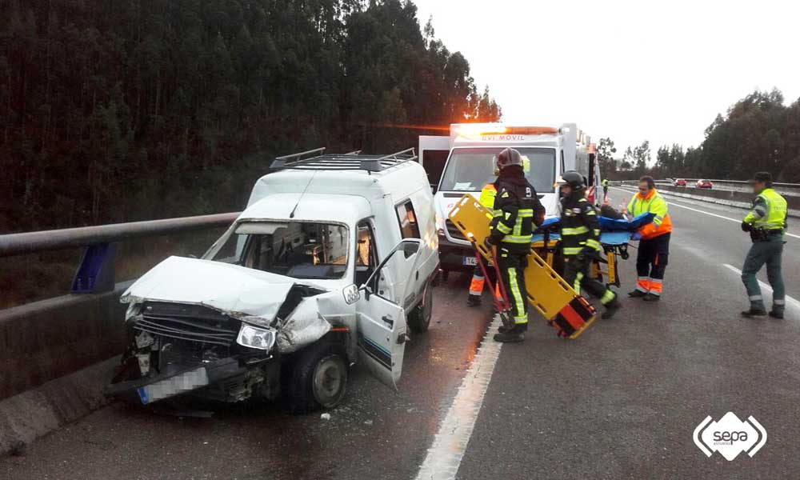 Accidente de tráfico con dos heridos en Villaviciosa