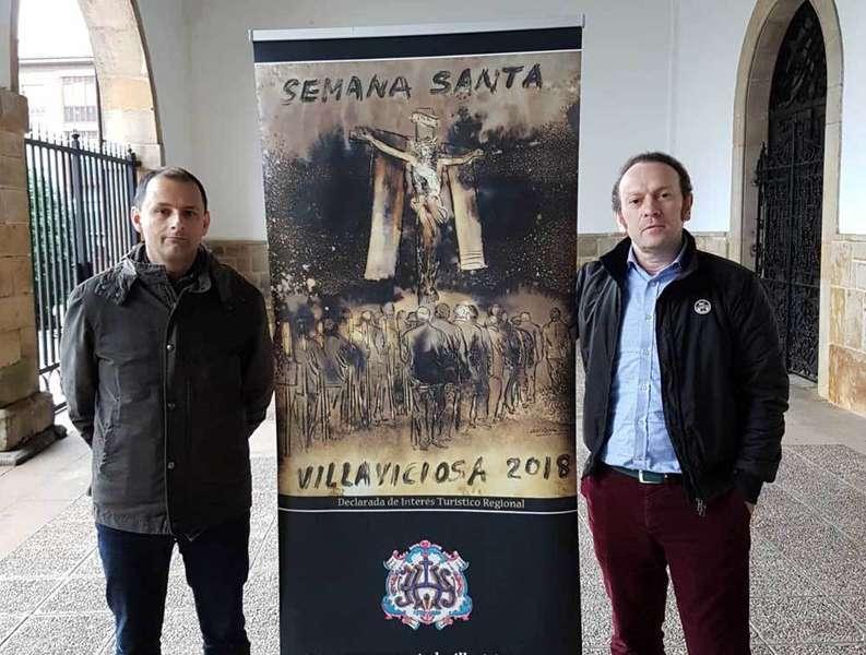 Guillermo Simón firma el cartel de la Semana Santa maliaya el año del 350 aniversario