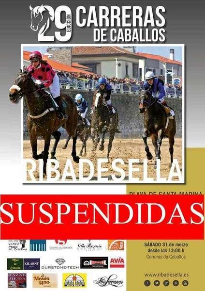SUSPENDIDAS LAS CARRERAS DE CABALLOS DE LA PLAYA DE RIBADESELLA