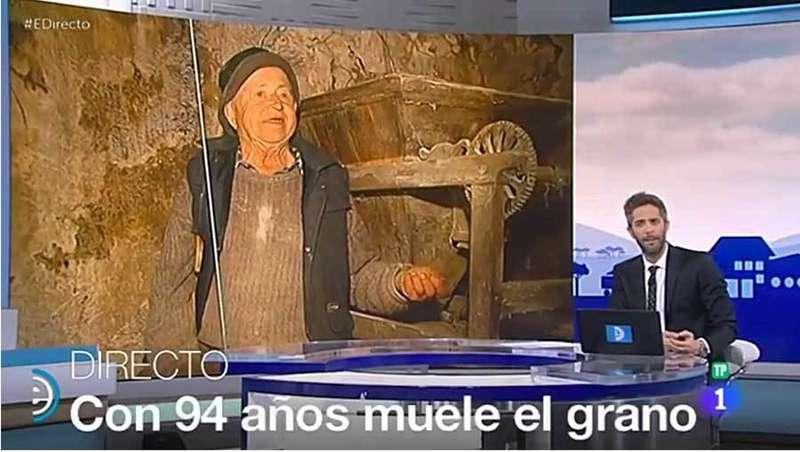 El programa España Directo de TVE estuvo con el último molinero de Parres