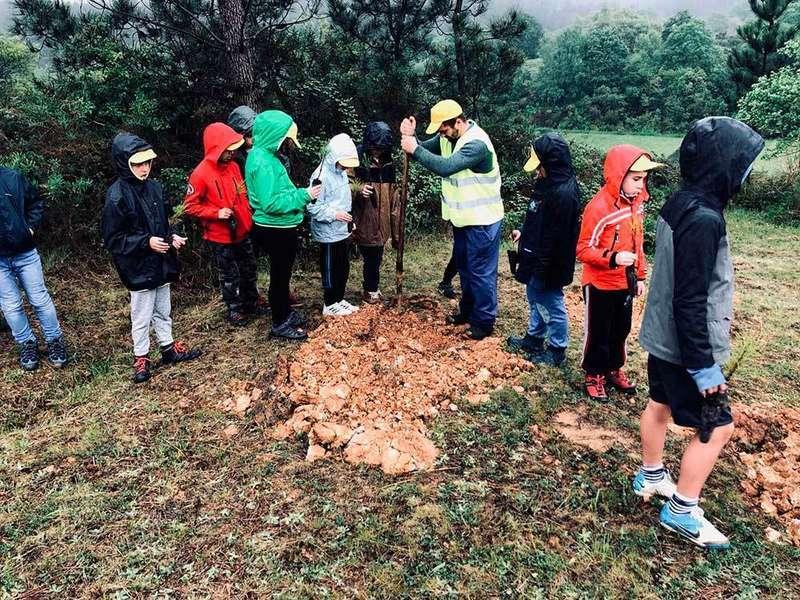 El acuartelamiento Cabo Noval acoge la celebración del día del Árbol organizado por UCOFA