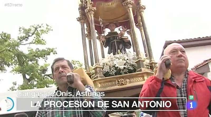 Las fiestas de San Antoniu en Televisión Española