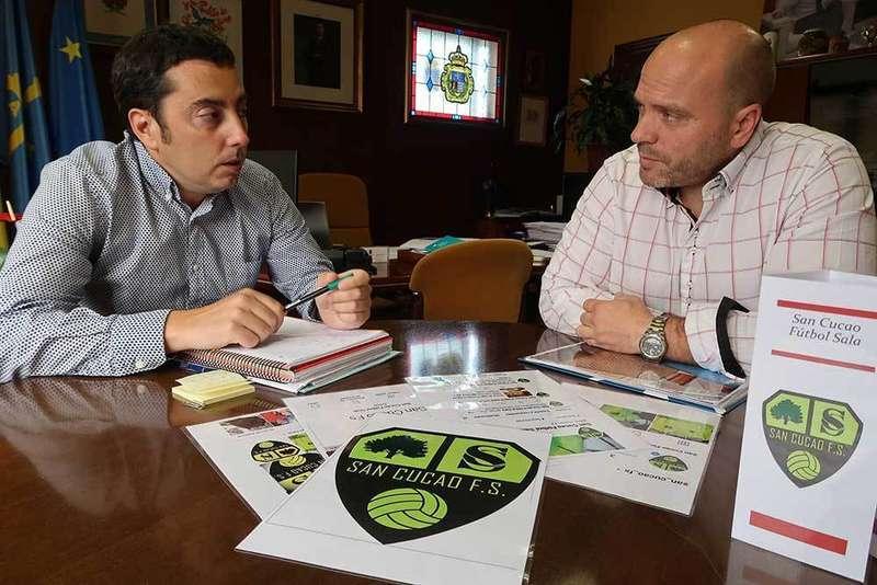 Recepción alcalde equipo fútbol