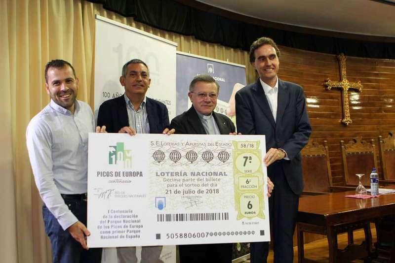 Sorteo de la Lotería Nacional desde Covadonga