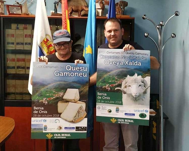 Onís presenta el cartel del Certamen del Queso Gamonéu