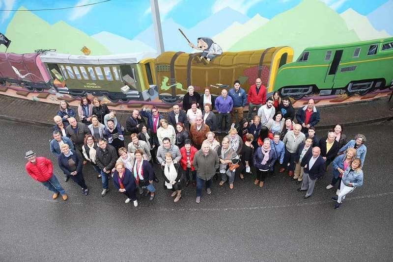Villabona confía que el mural de grafiti sea la locomotora del cambio