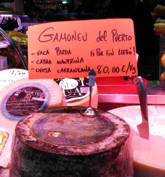 El Gamonéu del Puertu se vende en Madrid a 80 euros el kilo