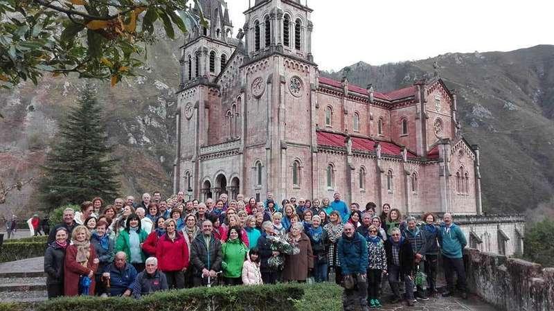 Los Amigos del Camino de Siero, Noreña y Sariego completan su peregrinación a Covadonga