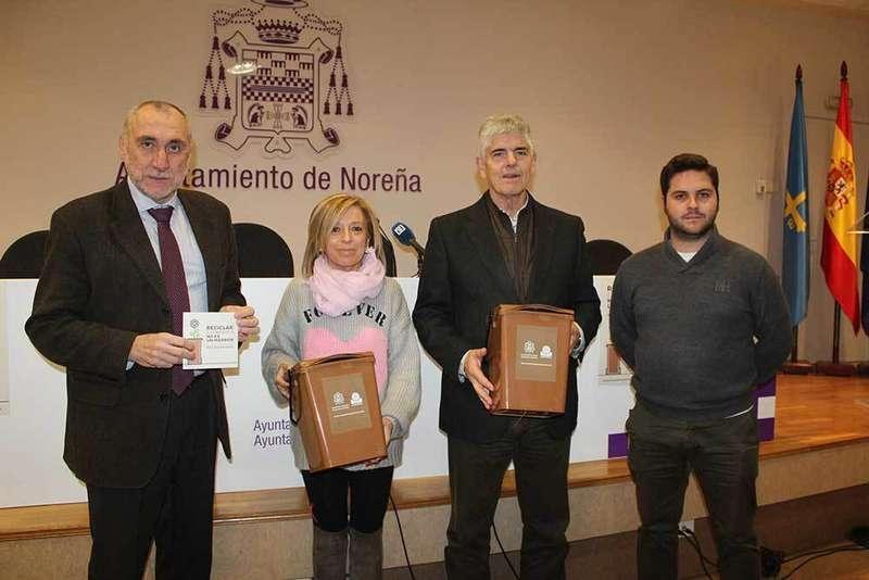 Noreña repartirá 1.400 minicontenedores marrones casa por casa
