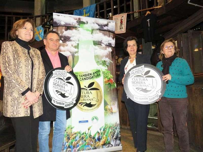 Asturias lleva a FITUR 2019 la candidatura de la Cultura Sidrera a Patrimonio Inmaterial de la Humanidad, que concede la UNESCO