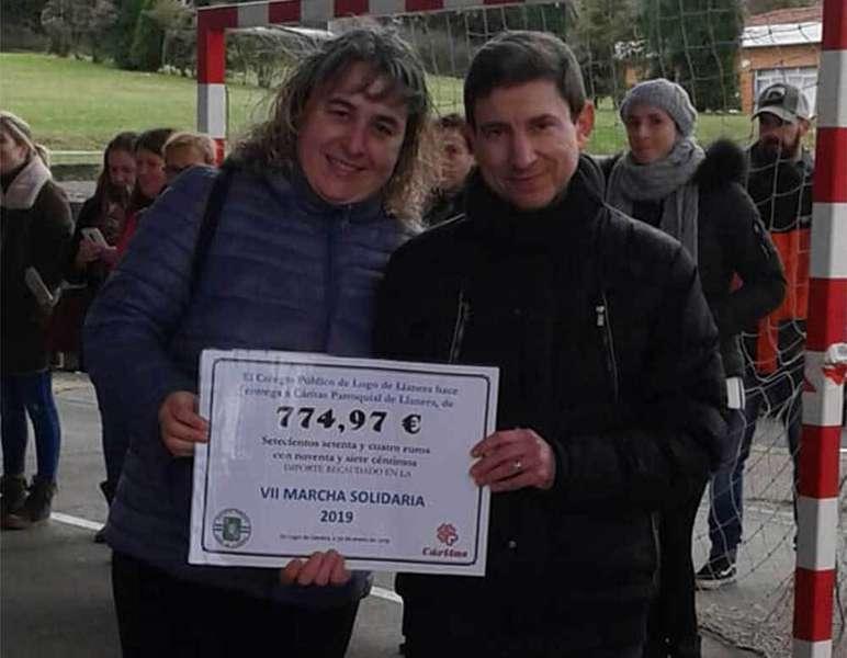 Marcha Solidaria en Lugo de Llanera