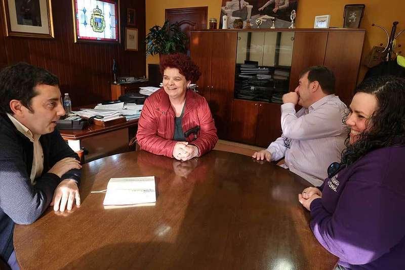 Reunión del alcalde con los comerciantes