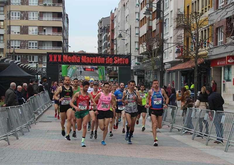 Moha Bakkali y Susana Celorio ganan la XXX Media Maratón de Siero