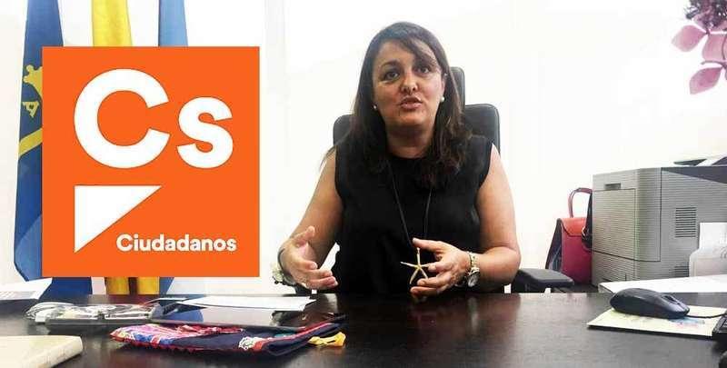 La alcaldesa de Ribadesella, Charo Fernández Román, número uno de la lista de Ciudadanos por el Oriente