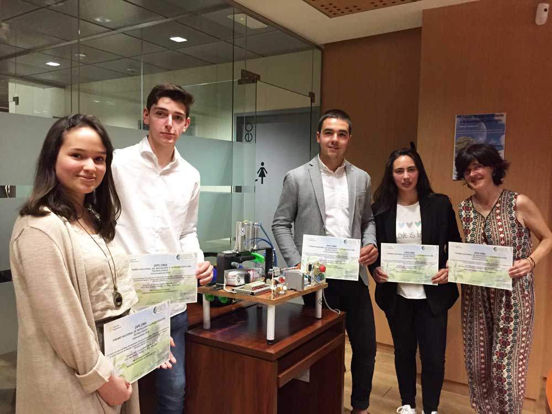 Premio Nacional de Iniciación a la Investigación Tecnológica para cuatro alumnos del IES Rey Pelayo