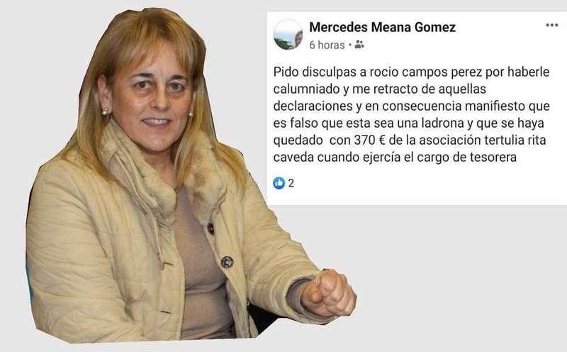 La exconcejal de Villaviciosa Mercedes Meana obligada por el juzgado a pedir disculpas por calumniar a la socialista Rocío Campos