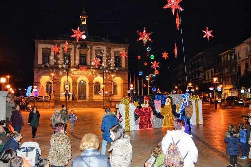alumbrado de navidad del ayuntamiento de villaviciosa de asturias