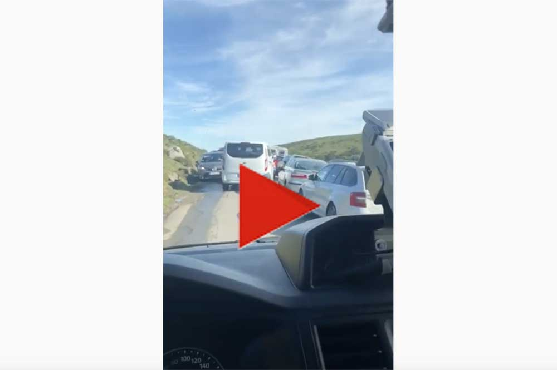 VÍDEO. Caos de tráfico en Los Lagos de Covadonga