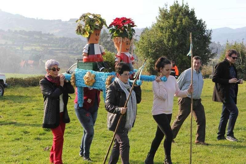 fiesta de los ramos por Santolaya en Seloriu de Villaviciosa
